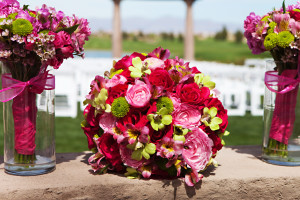 colored wedding flowers